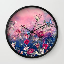 Scarlet Haze Wall Clock