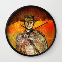 clint barton Wall Clocks featuring Clint by Rabassa
