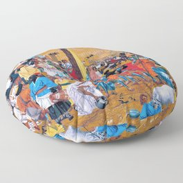 12,000pixel-500dpi - Richard Dadd - The Flight out of Egypt - Digital Remastered Edition Floor Pillow