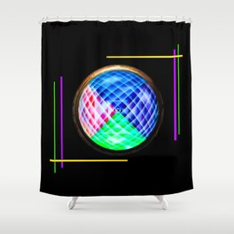 Abstract in perfection 10 Shower Curtain