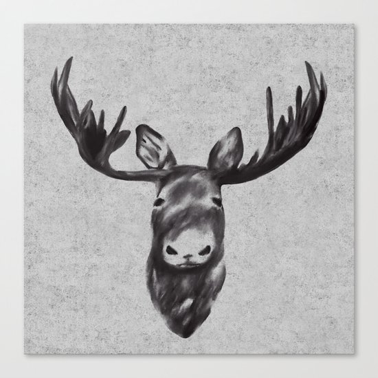 Beautiful Moose Head Design Canvas Print
