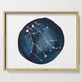Gemini Zodiac Constellation Serving Tray