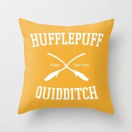 Hogwarts Quidditch Team: Hufflepuff Throw Pillow
