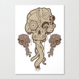 Cyborg Skull Canvas Print