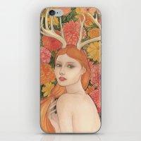 dahlia iPhone & iPod Skins featuring Dahlia by Marcela Badolatto