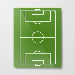 Football field fun design soccer field Metal Print