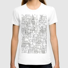 Russian cathedral church line drawing T-shirt