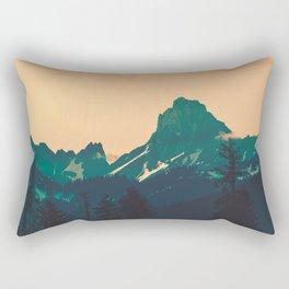 Cascade Mountains Sunset Rectangular Pillow