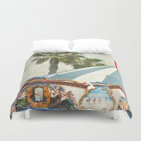 oasis Duvet Covers featuring Carnival Oasis by Lisa Argyropoulos
