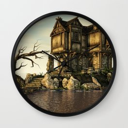The Old House on The Sea Wall Clock