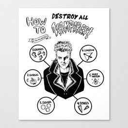 How To Kill A Lost Boy Canvas Print