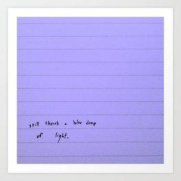 modern sentences, Kimberly Grey Art Print