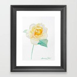 Rose of Sunshine Framed Art Print