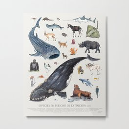 Animales en peligro de extinción, Endangered Metal Print
