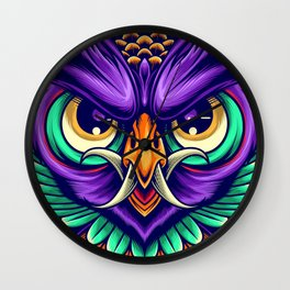Demon Owl Wall Clock