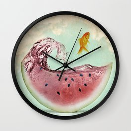 watermelon goldfish 02 Wall Clock