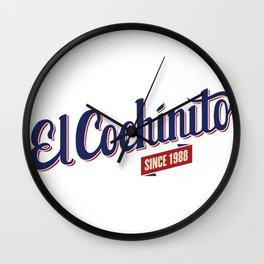 El Cochinito since 1988 Wall Clock
