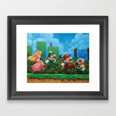 Super Mario Bros 2 Framed Art Print