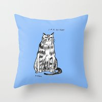 rubyetc Throw Pillows featuring I'm a delight by rubyetc