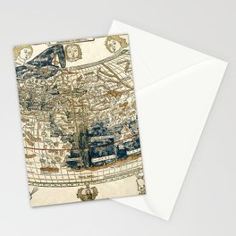 World Map 1482 Stationery Cards