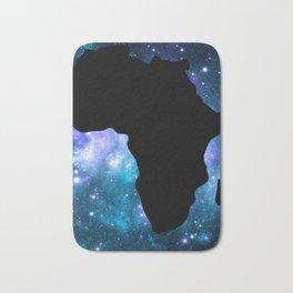 Africa : Teal Blue Violet Galaxy Bath Mat