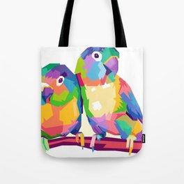 Love Bird POP ART Tote Bag