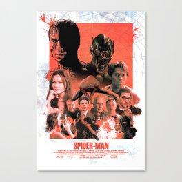 Vintage Spider-Man (2002) Alternative Movie Poster Canvas Print