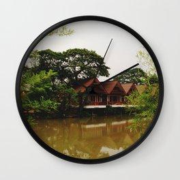 Bamboo Curtain Wall Clock