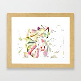 Color me Pony Framed Art Print