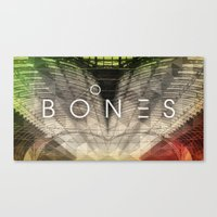 bones Canvas Prints featuring Bones by Vin Zzep