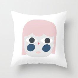Lady face Throw Pillow