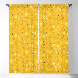 Honey Bees Life Pattern Blackout Curtain