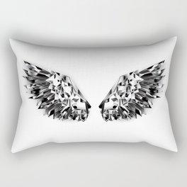 Black Mirror Wings Rectangular Pillow