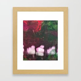 What's In The Forest? Forest, Abstract, Painting, Jodilynpaintings. Red, Green. Framed Art Print