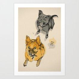 Stuey & Griffin Art Print