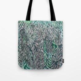 Snow Pines (Green) Tote Bag