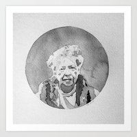Eleanor Roosevelt Watercolor Art Print