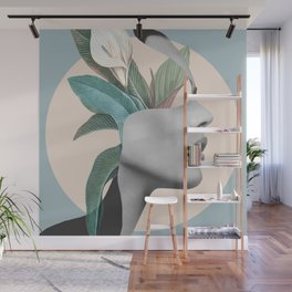 Floral Portrait /collage Wall Mural