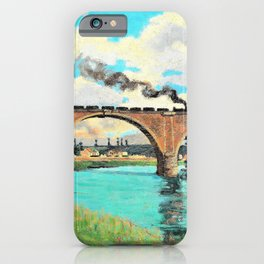 Armand Guillaumin - Railroad Bridge over the Marne - Digital Remastered Edition iPhone Case