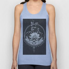 Lotus Flower Unisex Tank Top