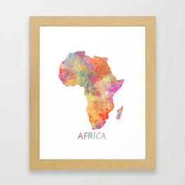 Africa map 2 Framed Art Print