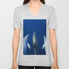 Playful and friendly dolphins Unisex V-Neck
