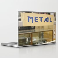 metal Laptop & iPad Skins featuring Metal by Bingz