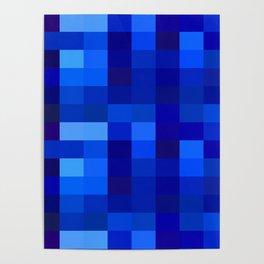 Blue Mosaic Poster