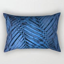 TROPICAL BLUE LEAVES PATTERN Rectangular Pillow