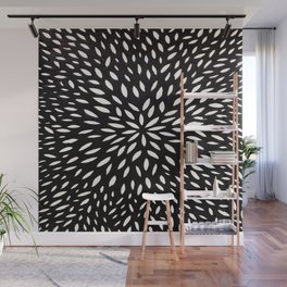 White Floret Wall Mural