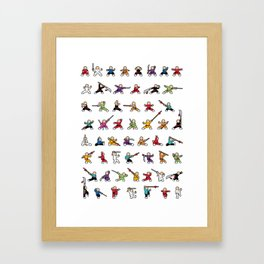 MiniFu showcase Framed Art Print