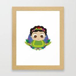 Cute Frida Framed Art Print