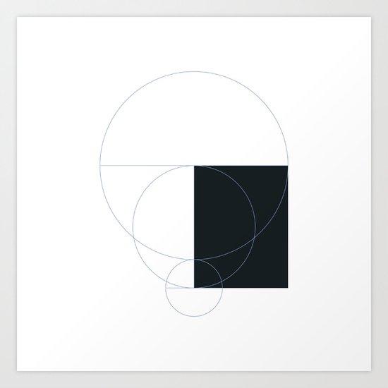 #303 Emptiness – Geometry Daily Art Print