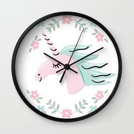 Unicorn portrait Wall Clock